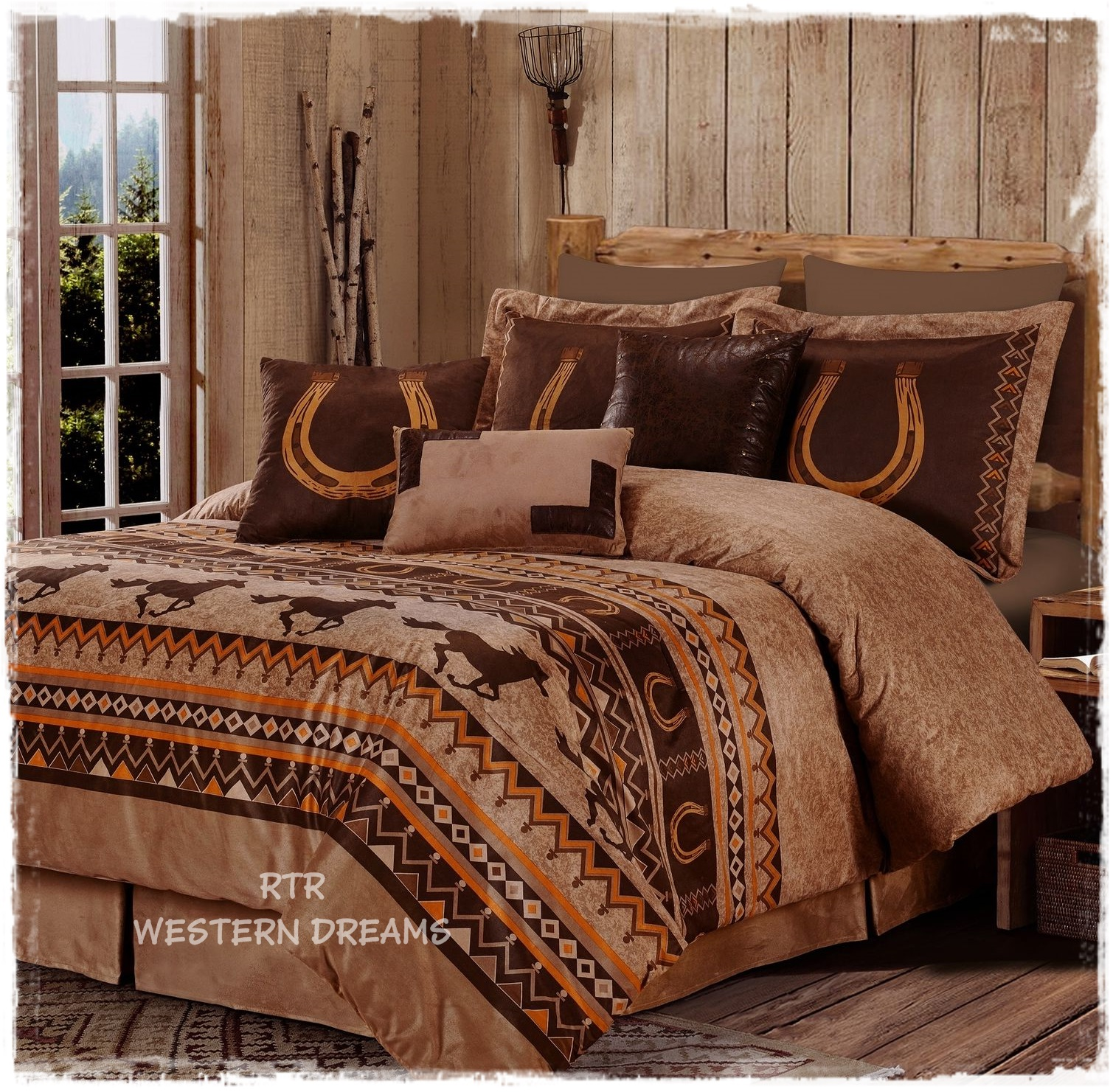 rustic ideas cheap ruffle brown painted king bed bedroom primitive set wrap with headboard walls black around white quilt california wooden red bedding cal country skirt